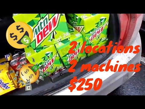 vending machine collection day 2019 | 2 locations $250 | 2 machines $250