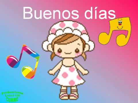 Canci n infantil buenos d as youtube for Cancion infantil hola jardin