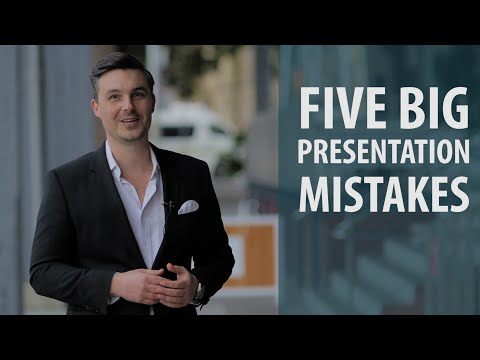 Five Big Presentation Mistakes with Colin Boyd