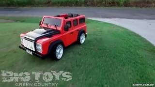 Детский электромобиль Land Rover M 3190 EBLRS-2 Джип, Автопокраска, черный - fiksiki.com.ua