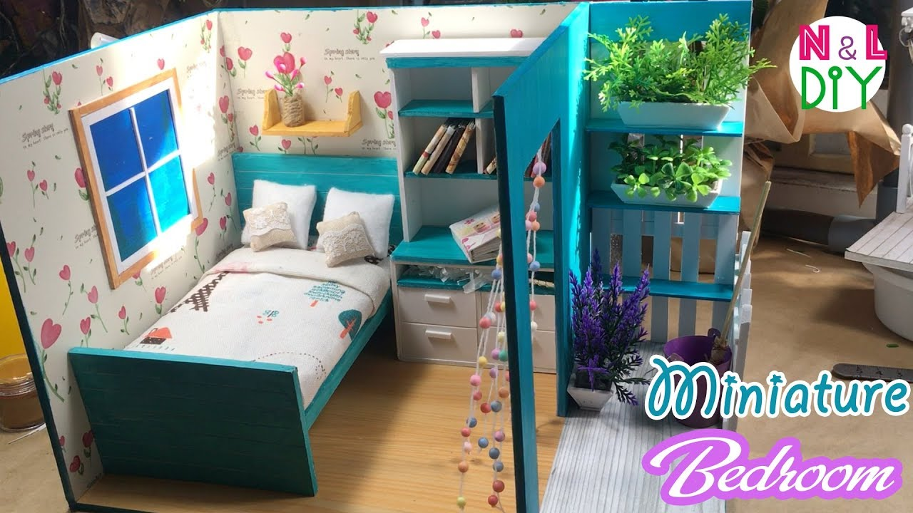 Diy Miniature Bedroom For Dollhouse How To Make A Bedroom With