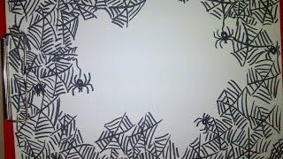 как сделать поделку паук на паутине