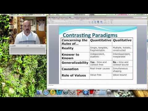 Paradigms and Qualitative Perspectives Lecture #1