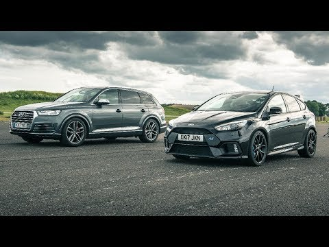 Audi SQ7 vs Ford Focus RS - Drag Races - Top Gear