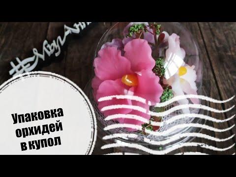 Как упаковать орхидею из мыла в купол | Мыловарение |     Подарок девушке | #МылАнна
