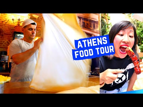 GREEK FOOD tour in ATHENS | Must eat GREEK FOOD in Athens, Greece |Delicious, traditional Greek food
