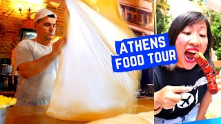 GREEK FOOD tour in ATHENS | SECRET MEZE restaurant | Greek street food in ATHENS, GREECE