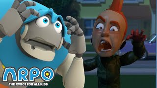 Arpo the Robot | Night Time Terrors  ZOMBIE! | Funny Cartoons for Kids | Arpo and Daniel