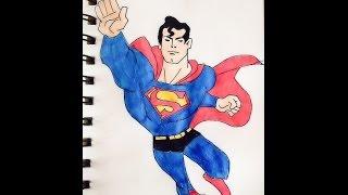 Как нарисовать СУПЕРМЕНА.#Superman(, 2016-04-19T08:37:12.000Z)