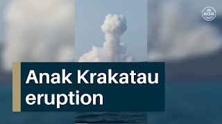 Anak Krakatau eruption 2 September 2019