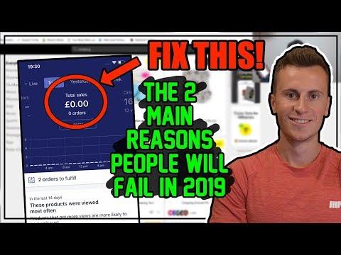 The 2 Main Reasons People Fail At Shopify Dropshipping in 2019 thumbnail