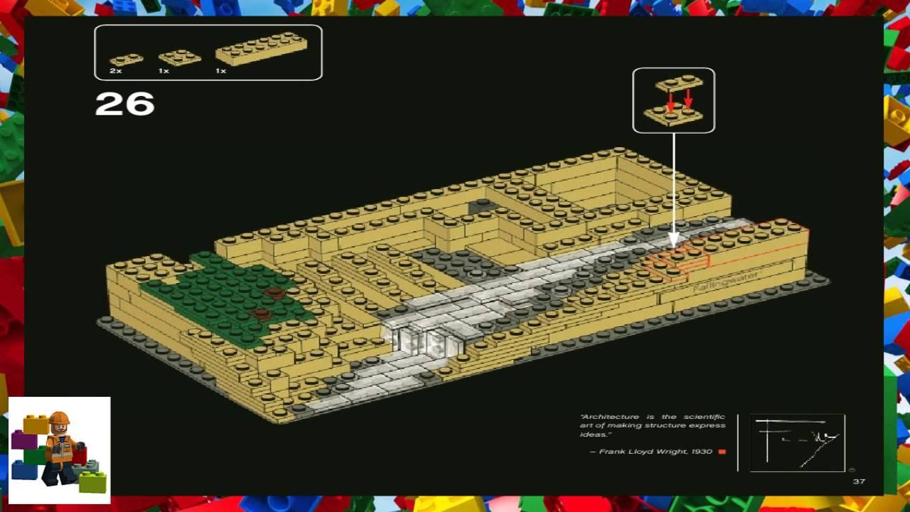 Lego Instructions Lego Architecture 21005 Fallingwater Youtube