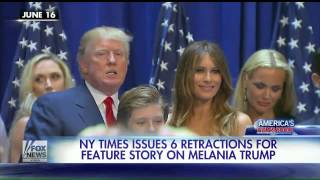 NY Times issues 6 retractions on Melania Trump feature story