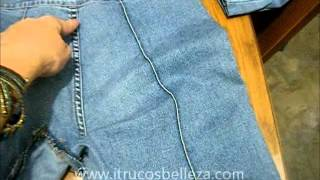 Cómo convertir un pantalón en falda