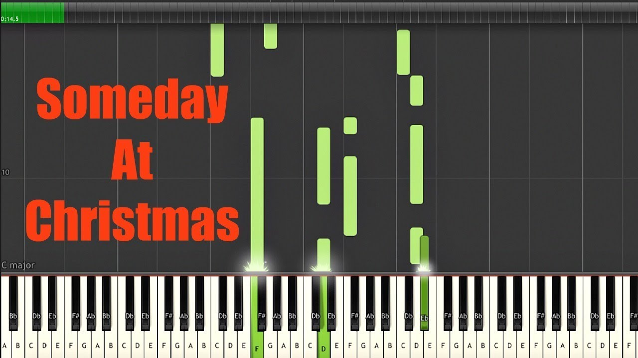 Someday At Christmas- Piano Tutorial w