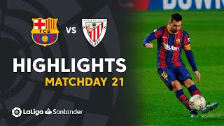 Highlights FC Barcelona vs Athletic Club (2-1)