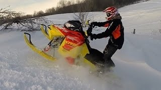 2015 Ski Doo MXZ XRS Ripping the Backcountry