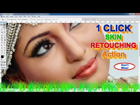 Retouching Photoshop Tutorial With Action Automatic Working