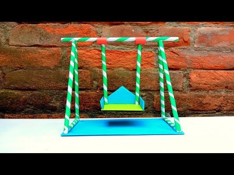 Simple Handmade Paper Crafts for Kids | How To Make A Swing With Paper Easy | Making Jhula With Pape
