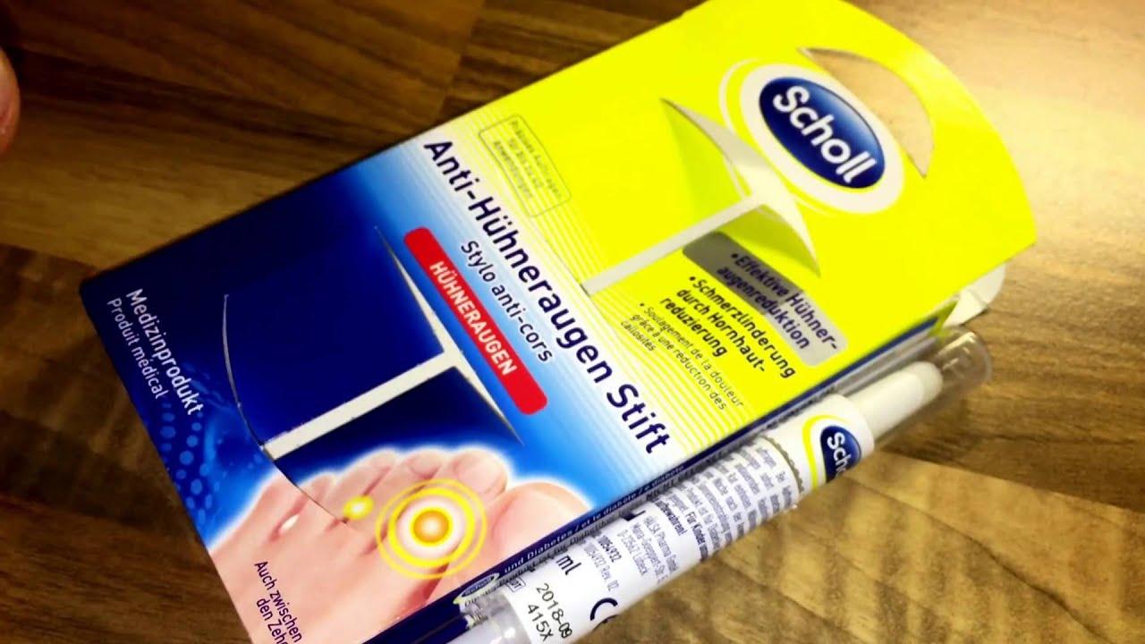 807128076d59 Scholl Anti Hühneraugen Stift unboxing und Verwendung Anleitung ...