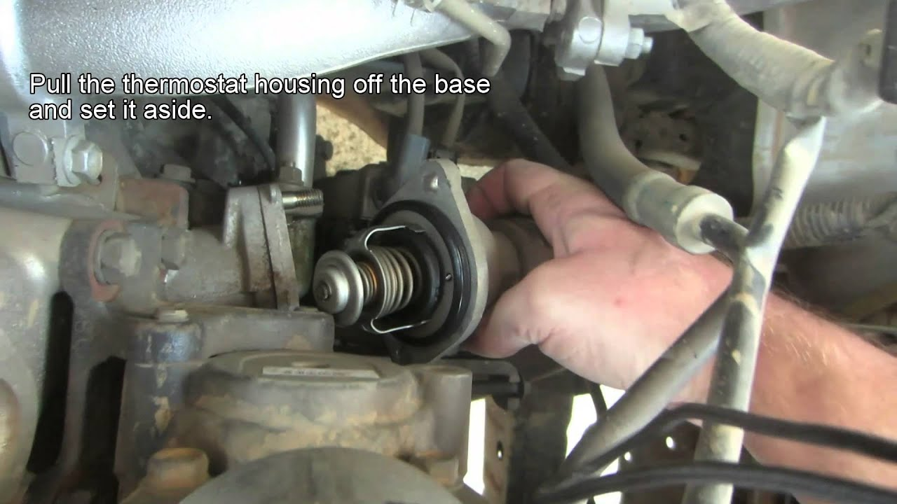 How To Replace Your Auto Thermostat Youtube Nissan 2 4 Liter Engine Diagram