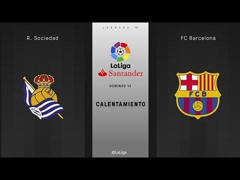 Calentamiento R. Sociedad vs FC Barcelona