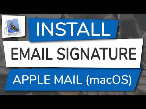 How To Install An Email Signature In Apple Mail (MacOS)