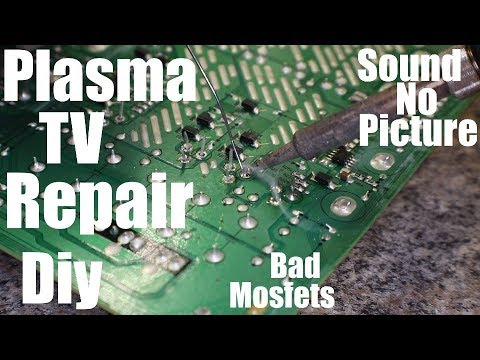 60in Lg Plasma Tv Repair Has Sound And No Picture Youtube
