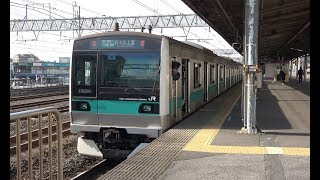 金町駅を発着する常磐線各駅停車 2019年1月30日