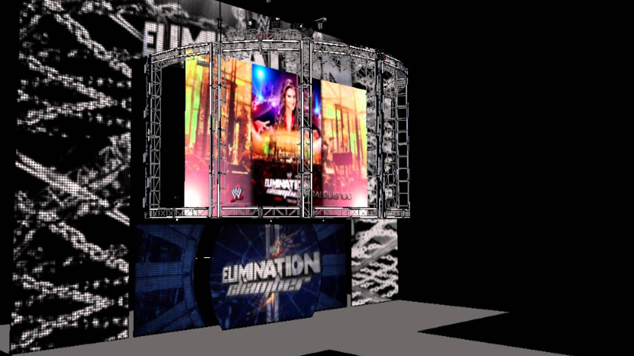 wwe elimination chamber 2014 stage concept youtube