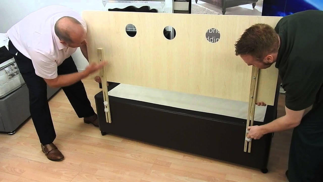 Attaching A Strutted Headboard To A Divan Bed Base Youtube