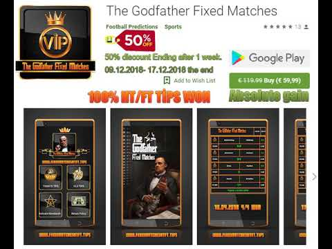 The Godfather Fixed Matches App %50 Off Discount Buy 100% Fixed Matches
