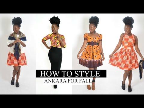 HOW TO STYLE    ANKARA DRESSES FOR AUTUMN/FALL lookbook 2016 🍂   ADEDE