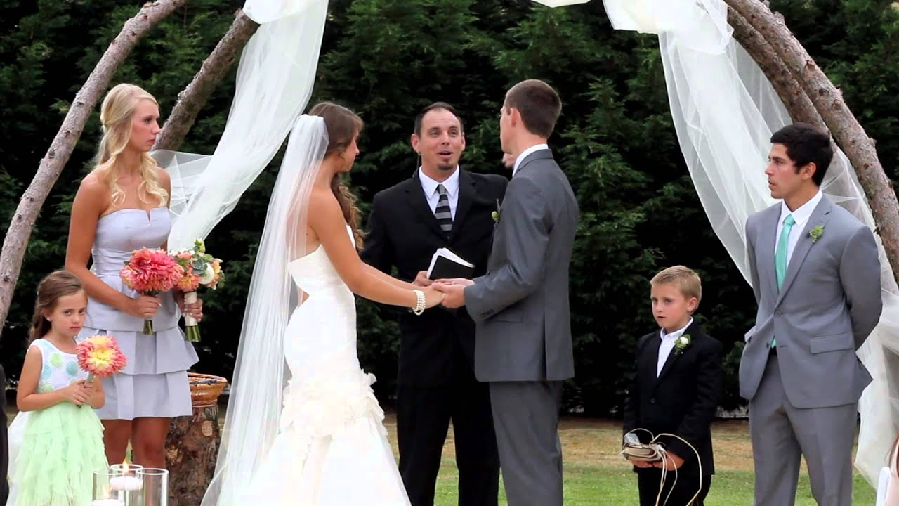 Michael and hannahs wedding ceremony august 2 2013 youtube junglespirit