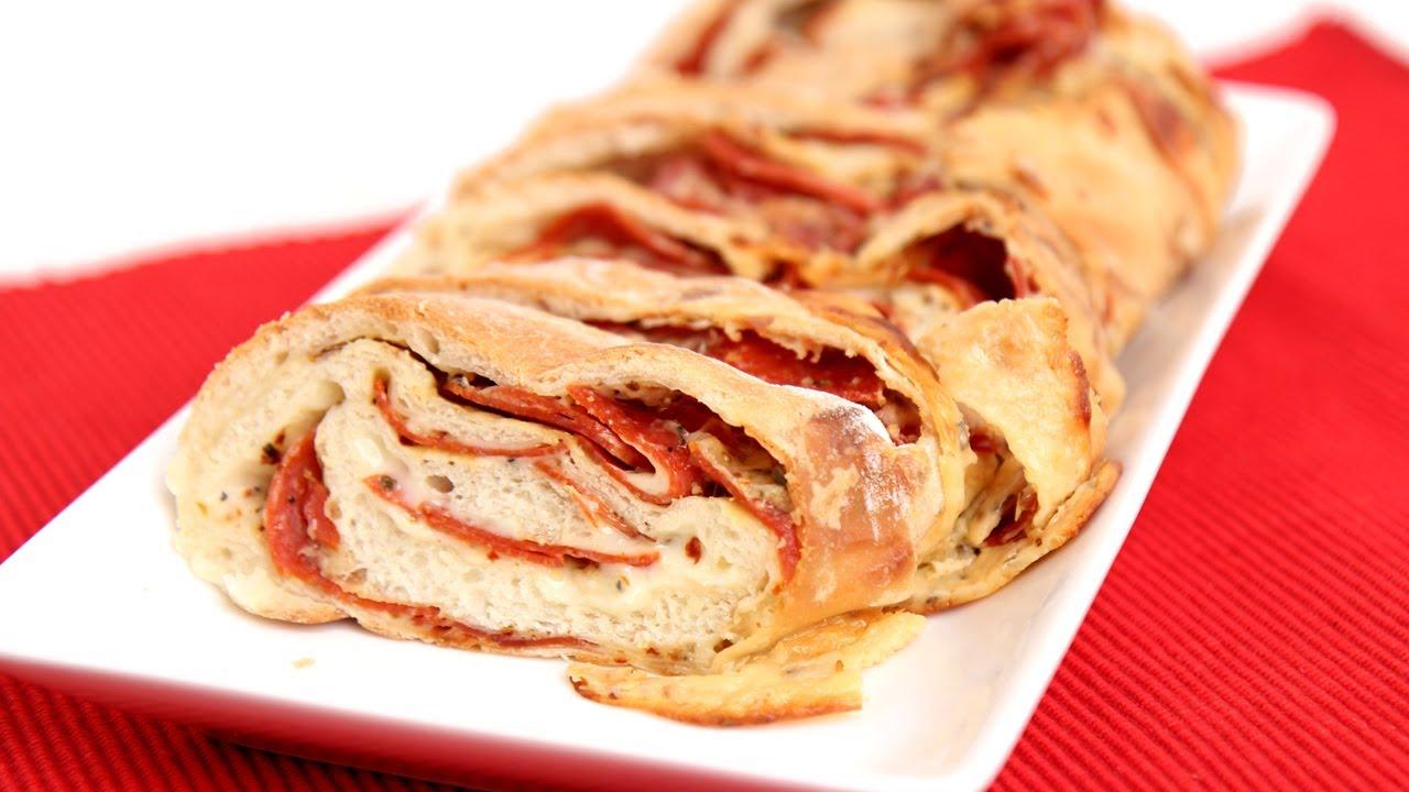 homemade pepperoni bread recipe - laura vitale - laura in the