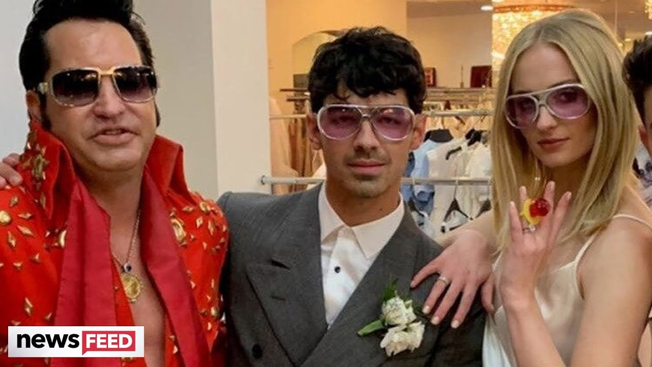 Sophie Turner and Joe Jonas Just Got Married in a Surprise Wedding Ceremony That Featured Ring Pops and 'Elvis'