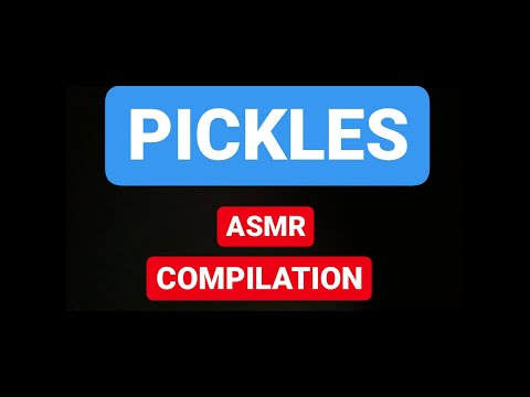PICKLES 🥒 ASMR Eating SOUNDS/ BIG CRUNCH/ INTENSE COMPILATION
