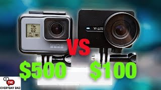 YI LITE the Cheapest Stabilized Action Camera! Compared to the new GoPro Hero 6! [4K]