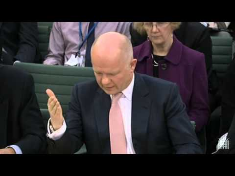 Foreign Secretary's evidence to Arms Export Select Committee