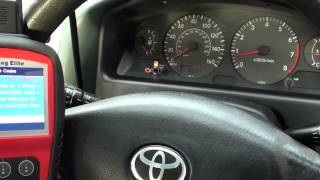 Toyota Engine Light Turn Off P1310 Ignition Coil Replace Fault Autel MD802