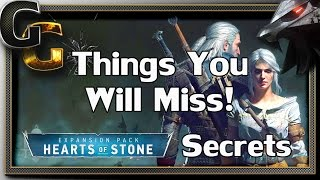 The Witcher 3: Hearts of Stone - Tips, Secrets And Things You Will Miss!
