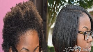 How to blend NATURAL hair with weave | Leave out treatment | Bob cut Tut
