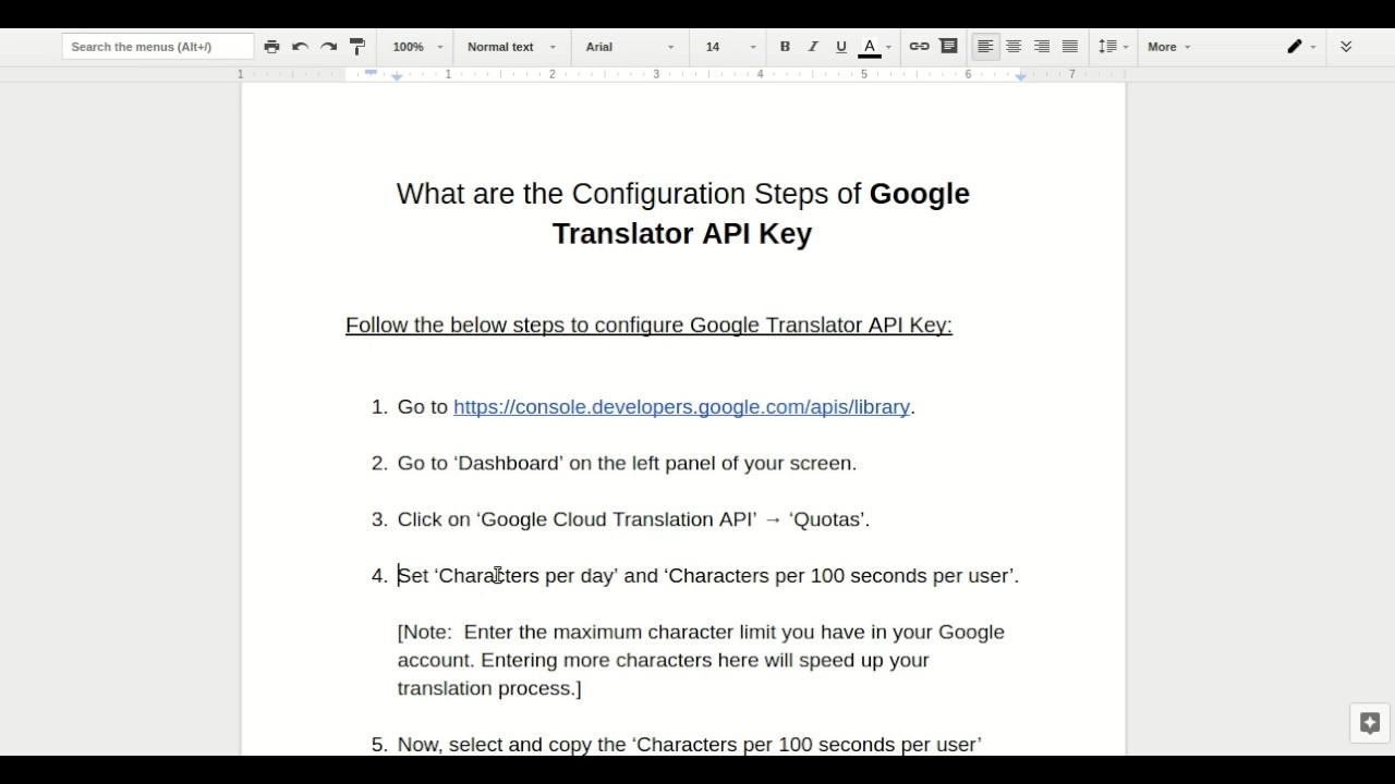 Configuration steps of Google Translator API Key for Language Translator  Plugin