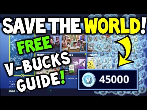HOW TO GET FREE V-BUCKS On Save the World! 4000+ - For FORTNITE BATTLE ROYALE! - Methods Explained!