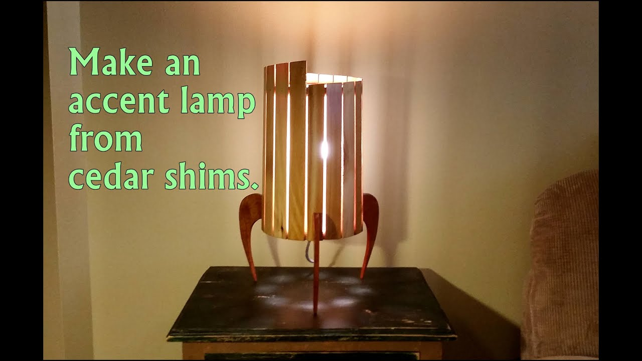 Make An Accent Lamp From Wood Shims   YouTube