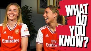 What Do You Know? | Leah Williamson v Jordan Nobbs | Arsenal Women