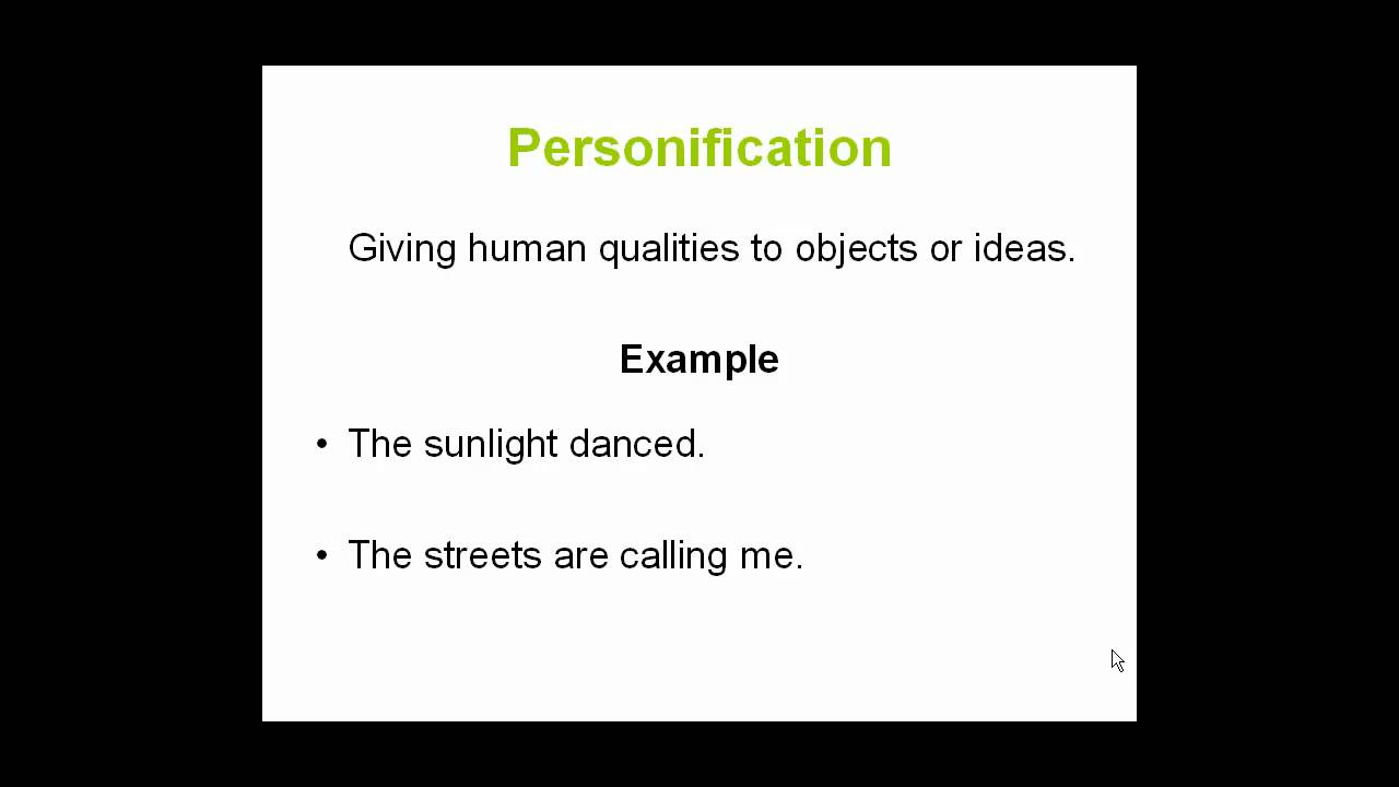 personification literary definition