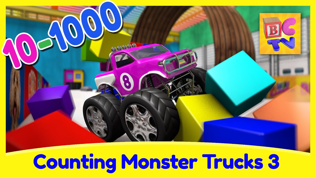 Counting Monster Trucks Learn To Count From To For
