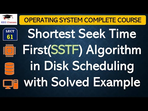 Shortest Seek Time First(SSTF) Algorithm with Solved Example - Disk Scheduling in Operating System