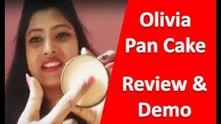 Olivia Pancake makeup for Indian skin , review of olivia pan cake, foundation review